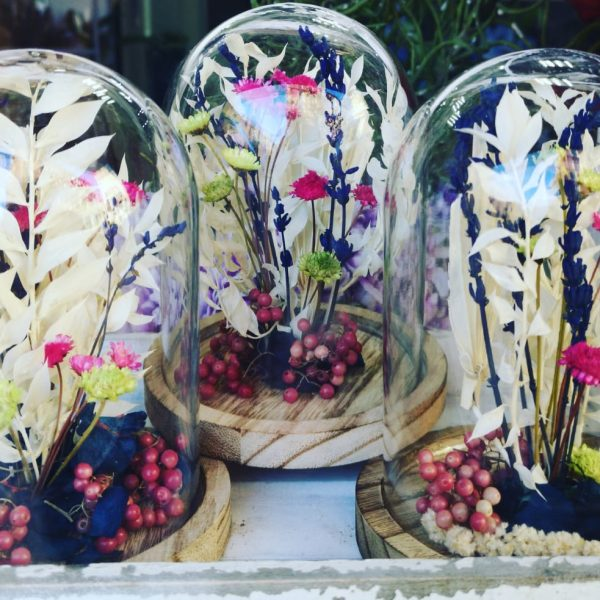 Cúpula mini flor preservada y seca 24€